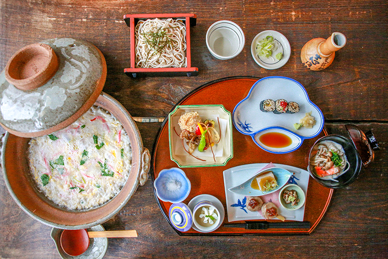 志ほ川 旅行代理店様向けお料理 蕎麦懐石膳